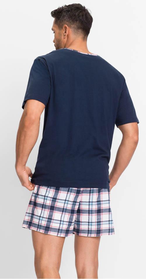 Letné pyžamo s kockovanými trenírkami