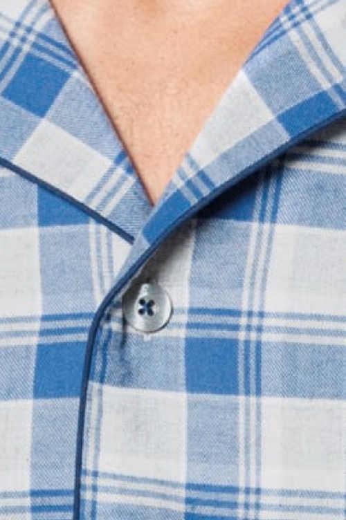 Moderné pyžamo dlhý rukáv na gombíky