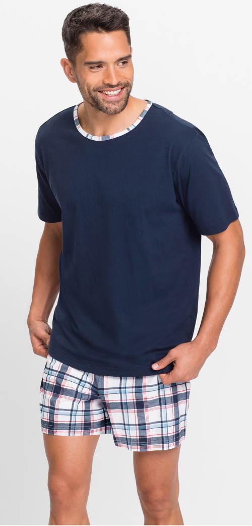 Pánske modré letné pyžamo bez nápisov