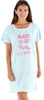 Pohodlná nočná košeľa s okrúhlym výstrihom