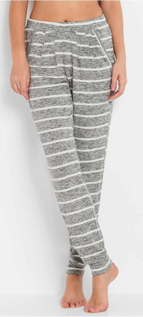Teplé dámske zimné pyžamové nohavice