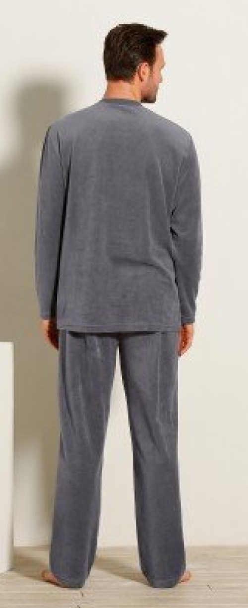 Teplé pánske bavlnené pyžamo