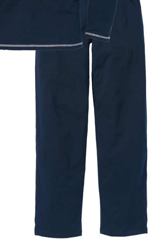 Tmavomodré dlhé pánske pyžamové nohavice