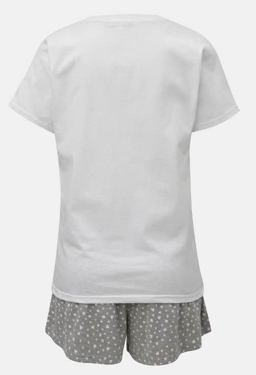 Bielo-sivé letné pyžamo