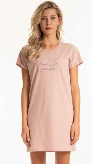 Dámska krátka bavlnená košeľa s potlačou a nápisom
