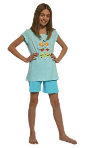 Dievčenské moderné pyžamo z kvalitnej bavlny s potlačou vpredu