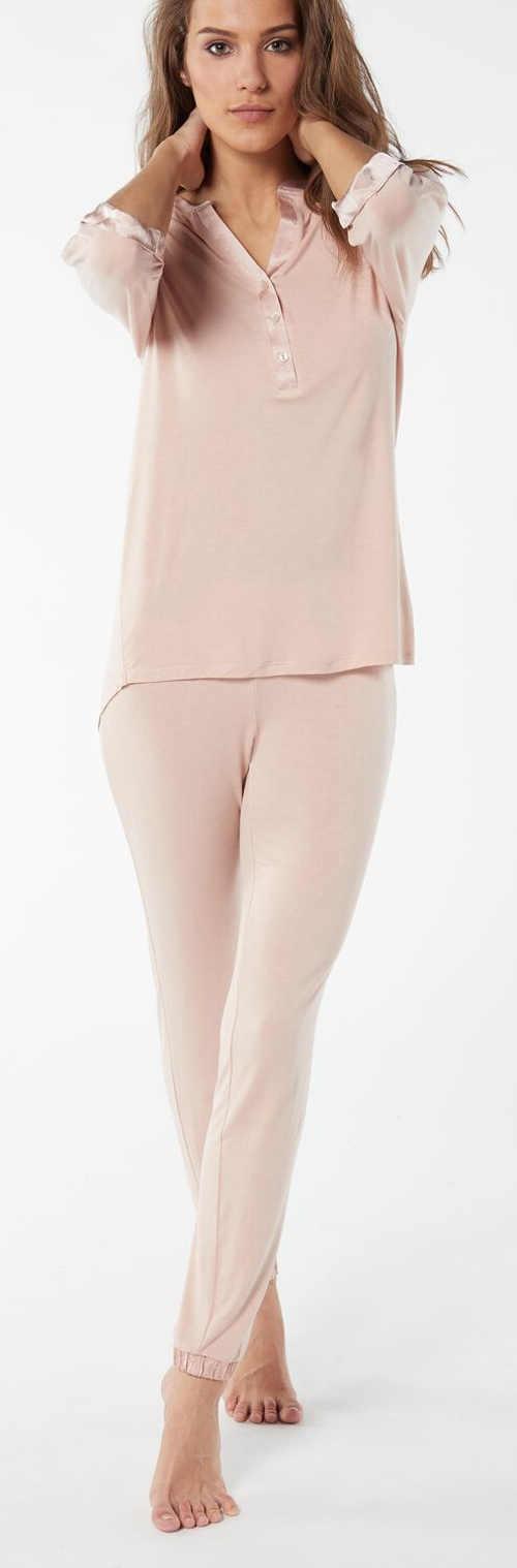 Dlhé dámske pyžamo Intimissimi z bambusovej viskózy