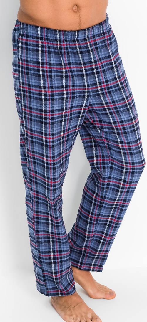 Dlhé kárované pyžamové nohavice