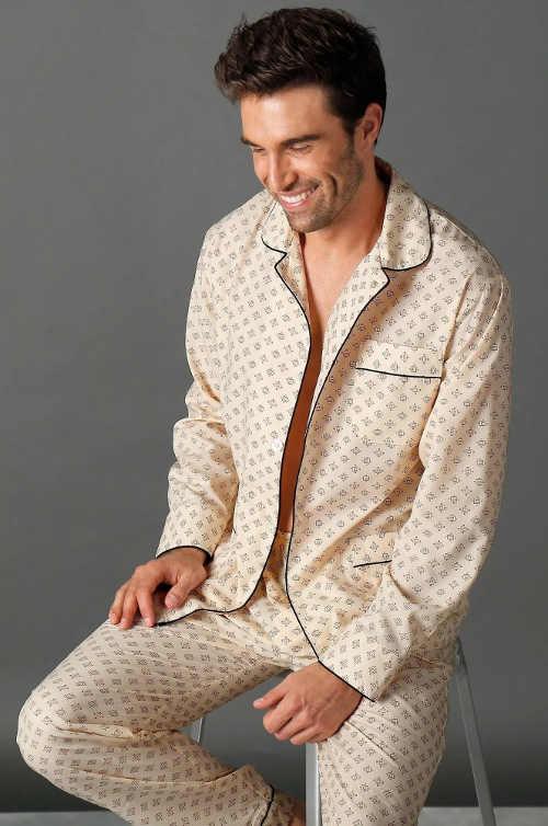 Klasické kabátkové pyžamo pre pánov
