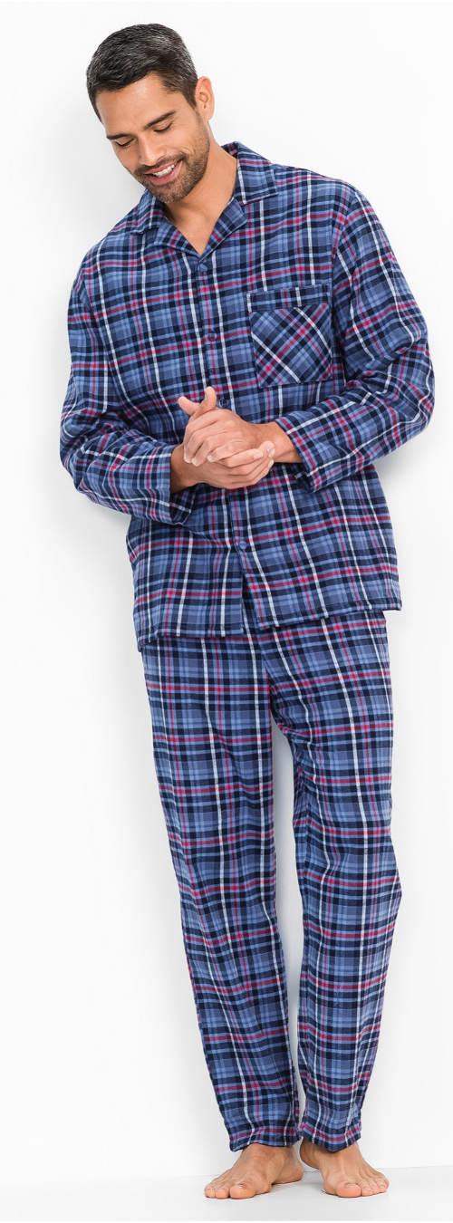 Klasické pánske flanelové pyžamo