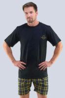 Pánske moderné pyžamo s krátkym rukávom a nohavicami