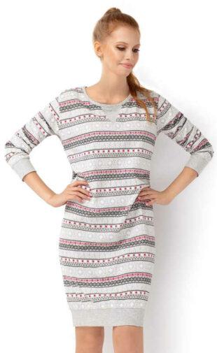 Zateplená dámska zimná nočná košeľa