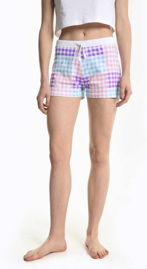 Dámske pyžamové šortky s modernou potlačou z kvalitnej bavlny