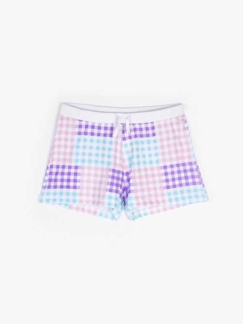 Farebné bavlnené pyžamové šortky