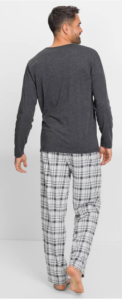 Pánske pyžamo s karovanými nohavicami