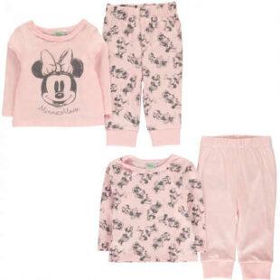 Ružové dievčenské pyžamo Disney Minnie Mouse