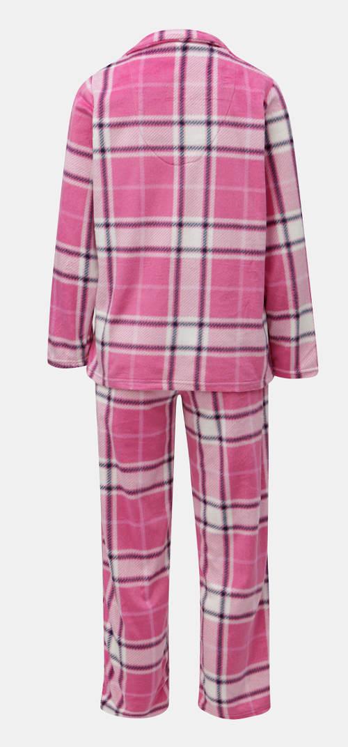 Ružové kockované dámske pyžamo