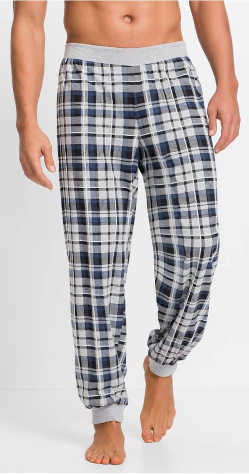 Kockované pánske pyžamové nohavice