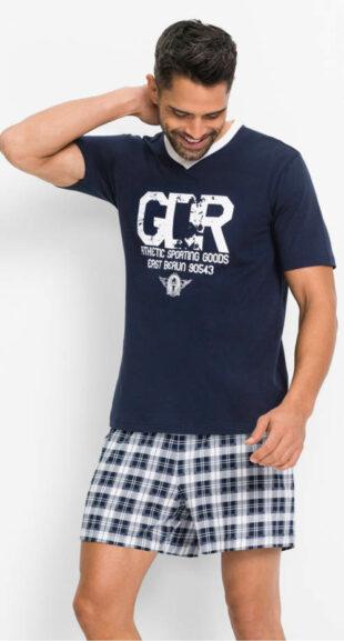 Lacné krátke pánske pyžamo