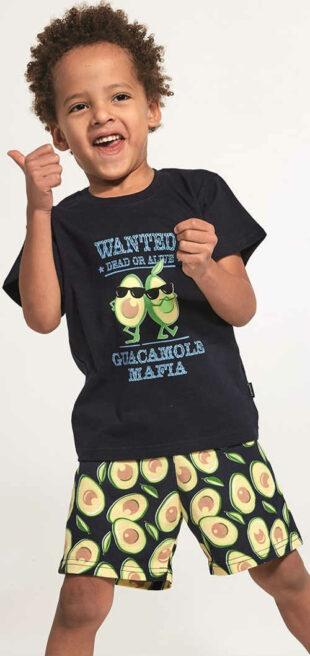 Letné chlapčenské pyžamo s veselou potlačou