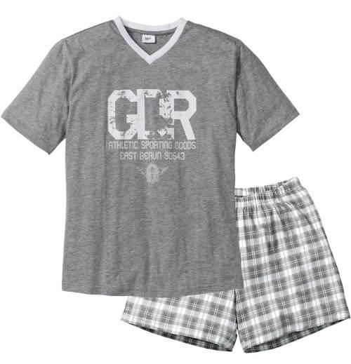Šedé pánske letné pyžamo