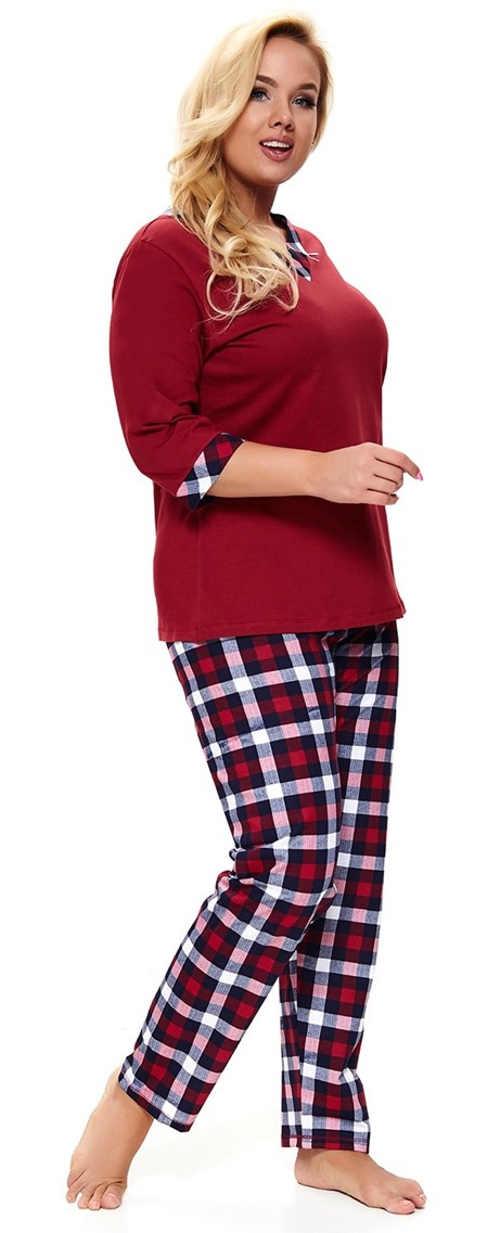 Teplé pyžamo pre plnoštíhle ženy
