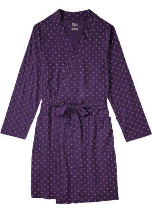 Dámsky jemný župan z kvalitnej tkaniny v dizajne kimona