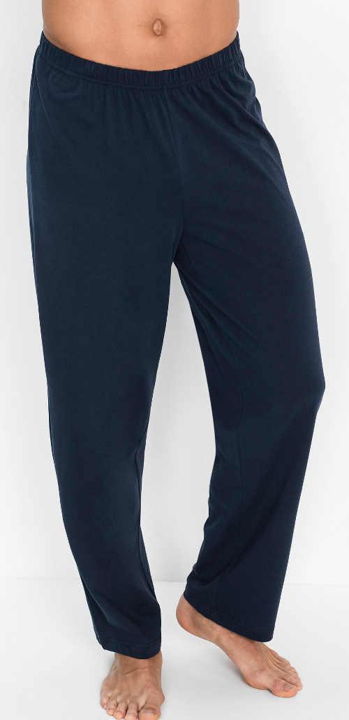 Dlhé pánske pyžamové nohavice tmavomodré