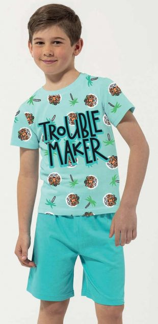 Krátke detské pyžamo Trouble Maker