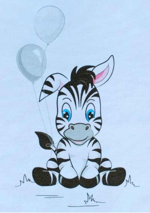 Roztomilá zebra na pyžámku