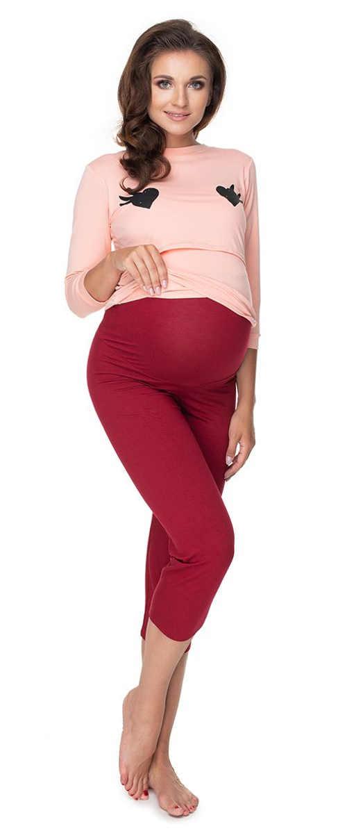 Štýlové pyžamo pre tehotné ženy v pôsobivom dizajne