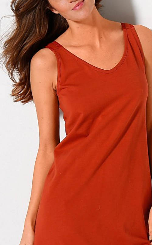 Terakotová dámska nočná košeľa Blancheporte výpredaj