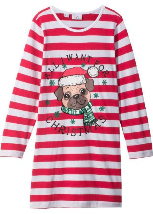 Dievčenská vianočná nočná košeľa