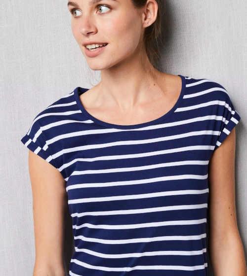 Pruhovaná nočná košeľa s krátkym rukávom