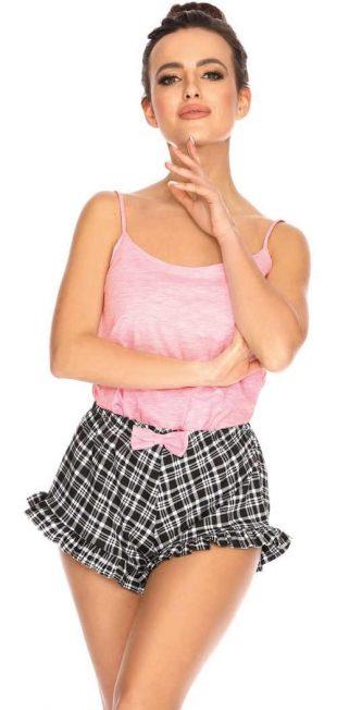 Rozkošné letné pyžamo s volánikmi na šortkách