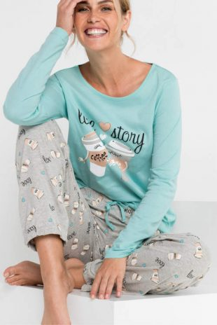 Lacné dámske pyžamové nohavice Bonprix